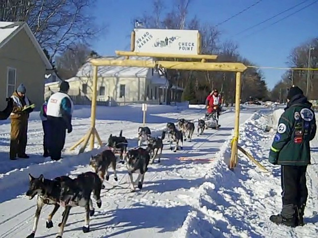 first musher to grand marais