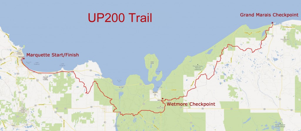 UP200 Trail Map 2014