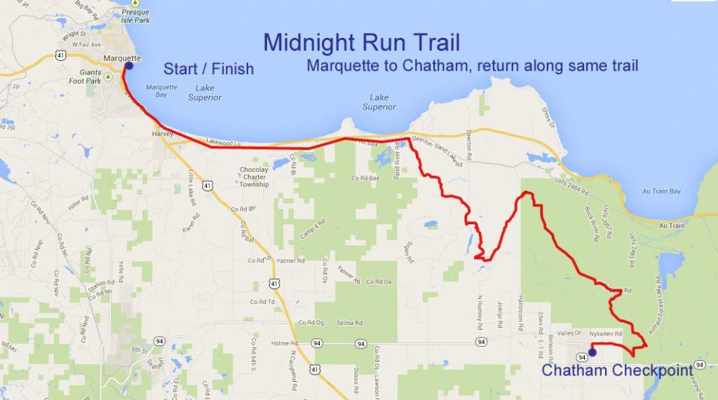 Midnight Run map